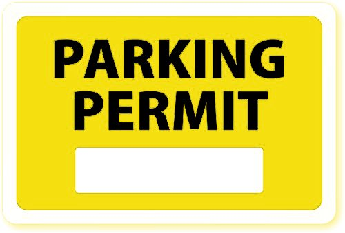 Parking Permit Inside Of Car Window (Yellow)/Stock DIY Pass Super Sticky Decals (50-Pack) 3