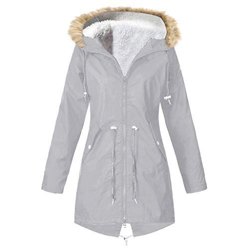 LIM&SHOP Winter Jacket Water Repellent & Breathable, Women's Raincoat Outdoor Hooded Rain Jacket Windbreaker