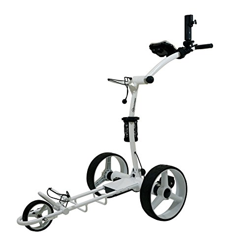 NovaCaddy Remote Control Electric Golf Trolley Cart, X9RD, White, 12V Lithium Battery