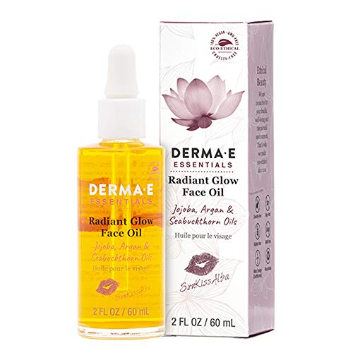 DERMA E Sunkissalba Radiant Face Glow Oil, 2 oz (Derma E Vitamin A And E Oil)