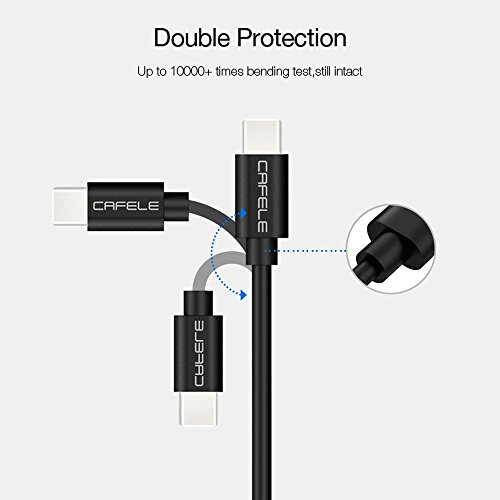 (2 Pack) CAFELE USB Type C Cable, Anker PowerLine USB C to USB 2.0 Cable with 56k Ohm Pull-up Resistor for Galaxy S8, S8+, the new MacBook, Google Pixel, Nexus 6P, LG V20 G5, HTC 10 and More by CAFELE (Image #3)