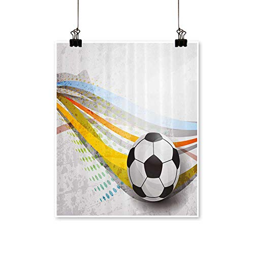 - painting-home Canvas Prints Wall Art Soccer Background Football Colorful Sports Game Digital Artwork for Wall Decor,24
