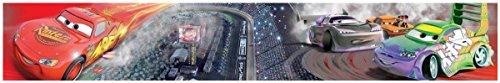 Lightning Mcqueen Wall Border - Disney Cars Race Track Self Adhesive Wallpaper Border 5m