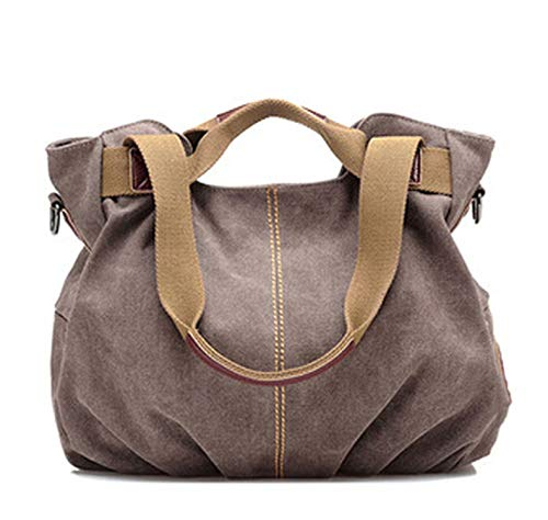 2019 Hot Designer Handbags Women Shoulder Bag Ladies Canvas Tote Bag,Brown