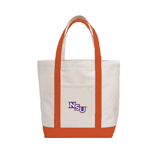 Northwestern State Contender White/Orange Canvas Tote 'NSU' by CollegeFanGear
