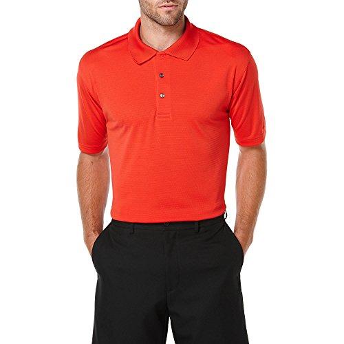 Ben Hogan Men's Performance Short Sleeve Solid Polo Golf Shirt (Medium, Red Rover)