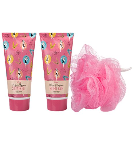 Tinker Bell Disney Shower Gel and Bubble Bath Pamper Duo Gift Set