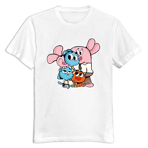 Men The Amazing World Of Gumball Custom Causal Size XS Color White T-Shirt By Mjensen (The Amazing World Of Gumball The Castle)