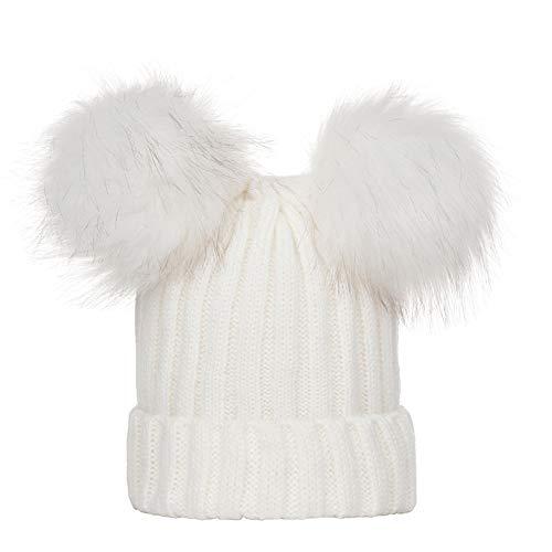 Sunshinehomely Toddler Newborn Baby Soft Winter Warm Knitting Wool Hat Infant Hairball Hat Cap