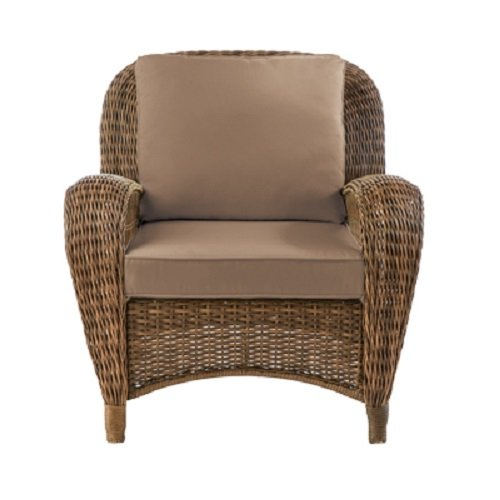 Hampton Bay FRS80812C-BARE Beacon Park Stationary Wicker Outdoor Lounge Chair with Cushion Inserts (Slipcovers Sold Separately) (Hampton Bay Outdoor Wicker Chairs)