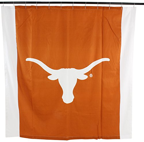College Covers NCAA Texas Longhorns Big Logo Shower Curtain, Orange, 72