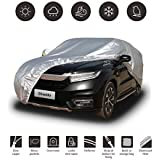 Shieldo Basic Car Cover with Buid-in Storage Bag Door Zipper Windproof Straps and Buckles 100% Waterproof All Season Weather-Proof Fit 180-195 inches SUV