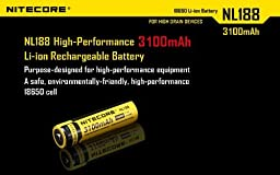 Nitecore Sysmax i4 Four Bays universal home/in-car battery charger, Two Nitecore 18650 NL188 3100mAH rechargeable Li-ion batteries with 2 X EdisonBright AA to D type battery spacer/converters