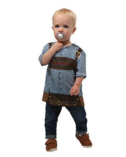Lederhosen Costume Child - Toddler Oktoberfest Costume T-Shirt Checkered Lederhosen Print - Size 3T