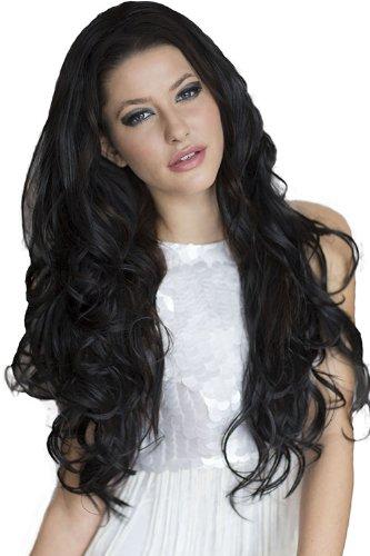 De excelente calidad totalmente relleno y DE que Extra larga de pelo ondulado con mechas color