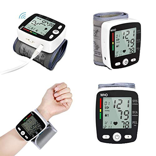 Monitors Broadcast Lcd 17 - Yealsha Automatic LCD Digital Wrist Blood Pressure Monitor Voice Broadcast Blood Pressure Machine
