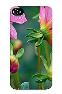 (6cd84b43612)durable Protection Case Cover With Design For Iphone 4/4s(flowers Nature Plant Beautiful Plant Green Red Yellow Pink Blue )
