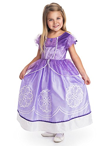 Sophia The First Costumes (Little Adventures Traditional Amulet Princess Girls Costume - X-Large (7-9 Yrs))
