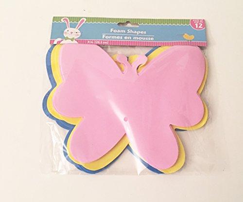 Foam Butterfly Easter Craft 12 Count Butterfly Foam