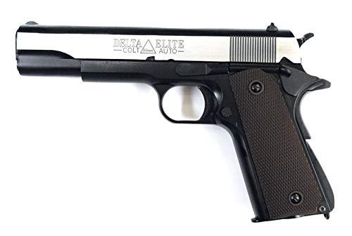 BELL M1911A1 デルタエリート刻印 ガバメント ブローバック ガスガン シルバー メタルスライド標準装備 No.723L B07RXJ1K5V