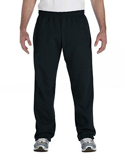 Gildan Activewear 50/50 Open-Bottom Sweatpants, 5XL, Black