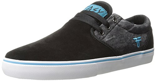 Zapatillas Fallen: The Easy Shoes Black/Acid/Island Blue BK/GR negro