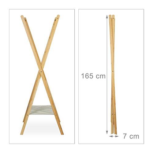 Relaxdays 10020268 Portant à Vêtements Pliable Bois Bambou 2