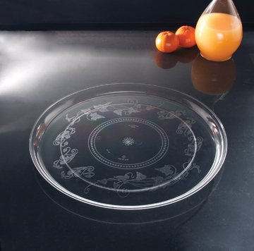 (EMI Yoshi Koyal Deli Mate Round Trays, 18-Inch, Clear, Set of 25)