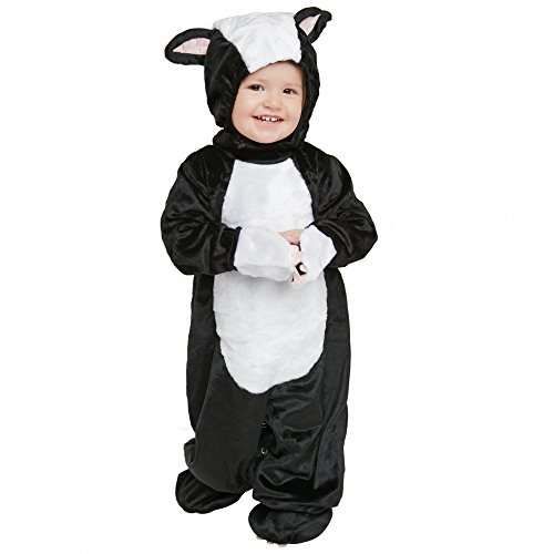 [Child's Toddler Fluffy Skunk Costume (Size: 1-2T)] (Skunk Toddler Costumes)