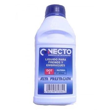 Necto NLF050A - Liquido para frenos y embragues DOT4, alta prestación, 500 ml: Amazon.es: Coche y moto