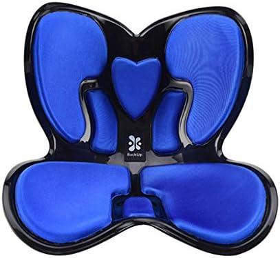 骨盤サポートチェア 腰部枕背部クッション美しいヒップクッション寝室のソファーオフィス快適で 座っ姿勢を改善する,ブルー