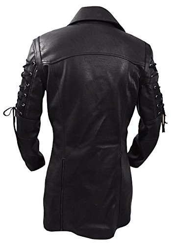 Gothic_Master Men's PU Leather 3 Buttons Coat 5