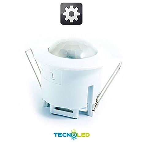 Sensor Movimiento Crepuscular Empotrar 360º Interior