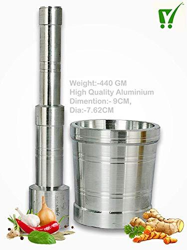 Top Quality Store okhli and musal/Kitchen Masher, Mortar and Pestle Set/Aluminium Masher/Khallad/khalbatta for Kitchen/Imam dasta/Spice Mixer, (430g,Aluminium) Price & Reviews