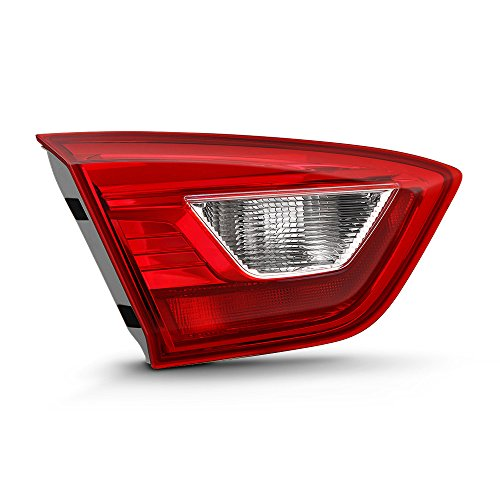 VIPMOTOZ For 2016-2019 Chevy Cruze Sedan Inner Driver Side OE-Style Red Lens Trunk Lid Left Tail Light Housing Lamp Assembly Replacement
