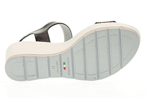 NERO GIARDINI zapatos de las sandalias de cuña P717710D / 100 NEGRO