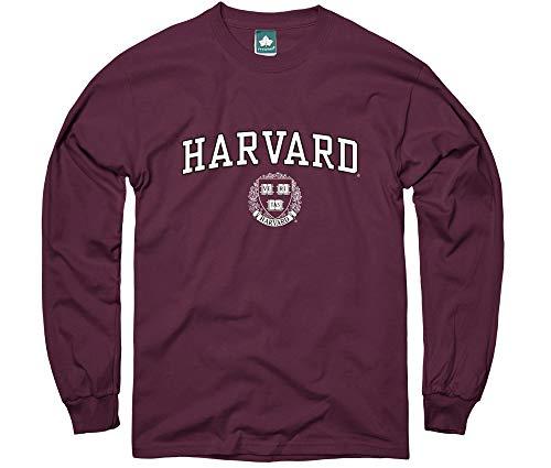 Ivysport Harvard University Long-Sleeve T-Shirt, Crest, Crimson, XX-Large