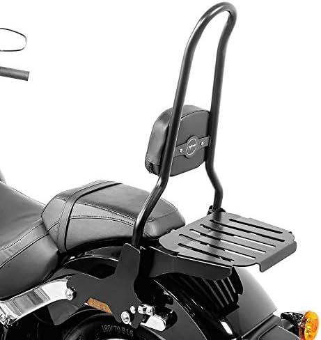 Sissy Bar Csxl Mit Gepäckträger Für Harley Softail Sport Glide 18 21 Schwarz Auto