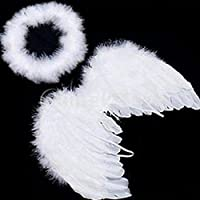 Cute Baby Kids White Angel Wings Feather for Party Decoration And for Photo Prop
