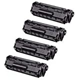 Amsahr Remanufactured Toner Cartridge Replacement for HP Q7516A ( Black , 4-Pack )