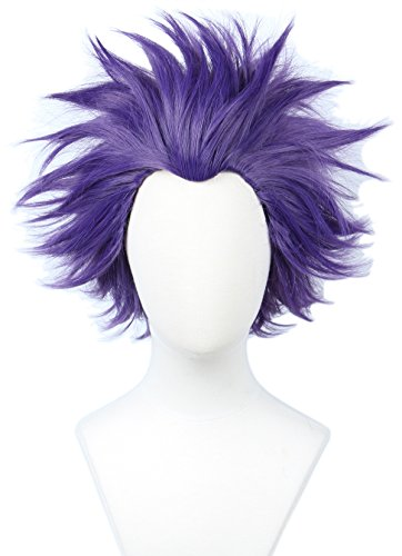 (Linfairy Anime Cosplay Wig Short Halloween Costume Hero Wig)