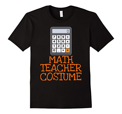 Mens Math Teacher Costume Funny Halloween T-shirt Large (Calculator Costumes)