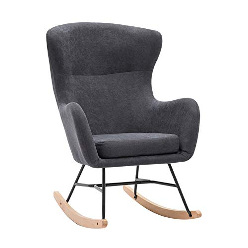 Pig Middle I Relax Rocking Lounge,Comfortable Relax Rocking Chair Lounge Chair for Kitchen Patio 5485110cm (Color : Black)