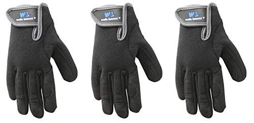 Youth Synthetic Leather - Youth Synthetic Leather Gloves, High Dexterity, Spandex Back, Machine Washable (Wells Lamont 7700Y) (3 Pair)