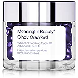 Meaningful Beauty by Cindy Crawford – Wrinkle Smoothing Capsules Advanced Formula – Targeted Treatment Serum – With Hyaluronic Acid – 60 Count – MT.0385