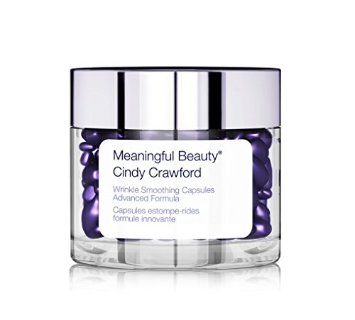 Meaningful Beauty Wrinkle Smoothing Capsules Advanced Formula, Hyaluronic Acid Targeted Treatment Serum, 60 Count