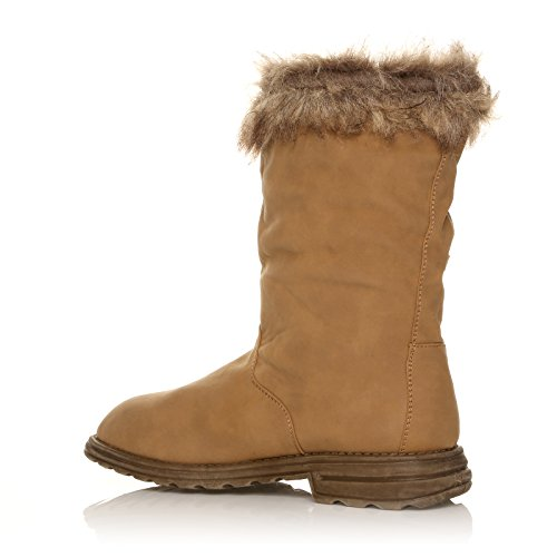 WINTER 8 36 ANKLE 3 MID 41 BOOTS SIZE BOOTS WOMEN CALF Camel LADIES NEW tqxASS