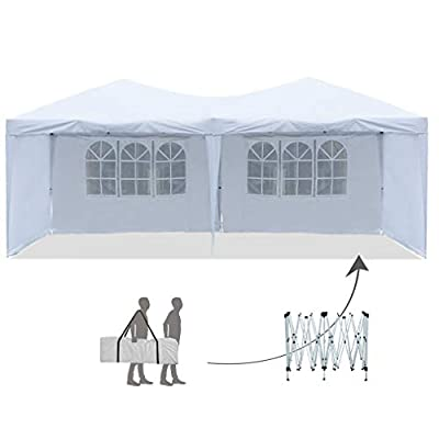 FDW Canopy Tent Easy Pop Up Party Sun Shade Instant Folding Protable Better Air Circulation 10' x 20' Outdoor Gazebo with Backpack Bag : Garden & Outdoor