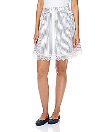 Reflex A Line Skirt For Women - Blue & White