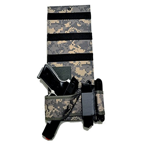 Explorer Tactical Under Mattress Bed Handgun Holster with Tactical Flashlight Loop ACU